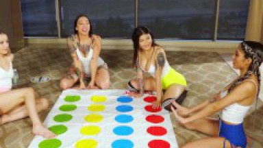 Hot Lesbian Twister Orgy with Brenna Sparks,Wednesdaynyte, Giselle Amore & Anna Claire Clouds traile